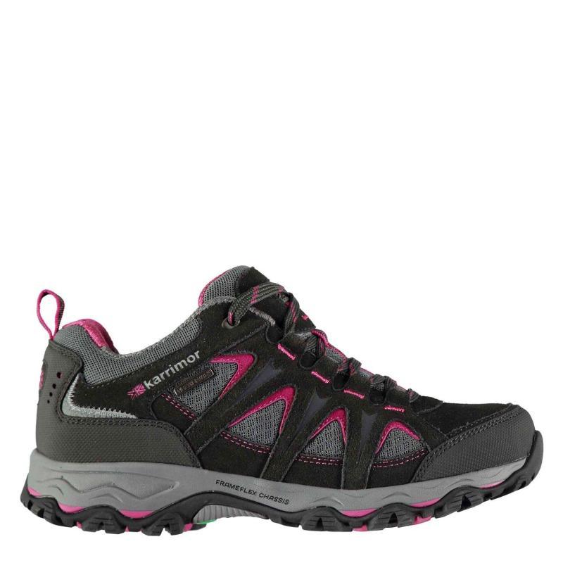 Boty Karrimor Mount Low Ladies Walking Shoes Black/Pink
