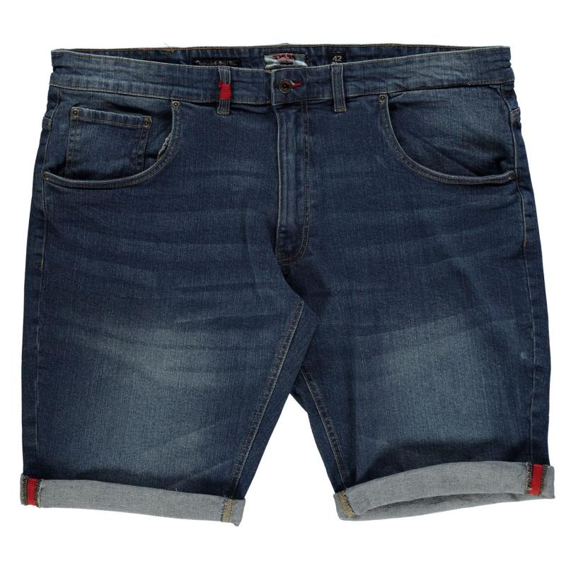 D555 Nate Denim Shorts Mens Vintage Blue