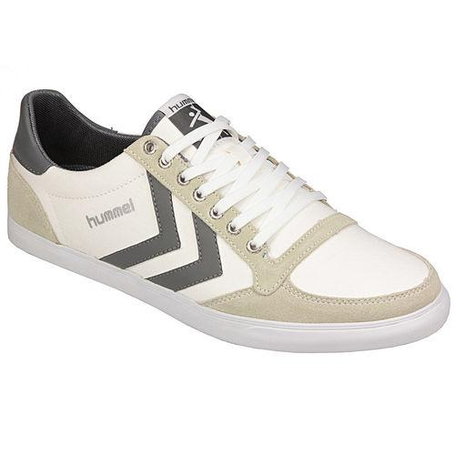 Boty Hummel Mens Slim Stadil Low Trainers White