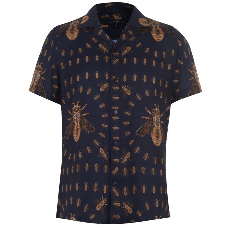 Hermano Short Sleeve Shirt Blue Bee