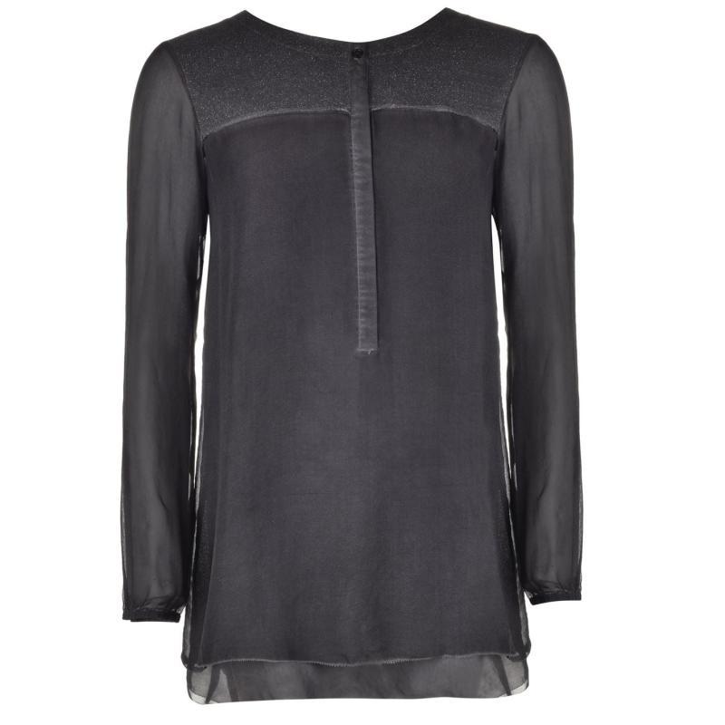 Košile Marc Aurel Jersey Blouse Ladies Charcoal 62000