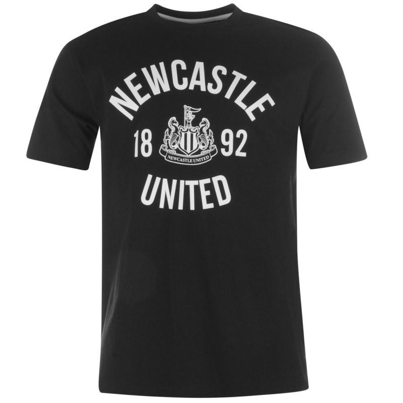NUFC Crew T Shirt Junior Black