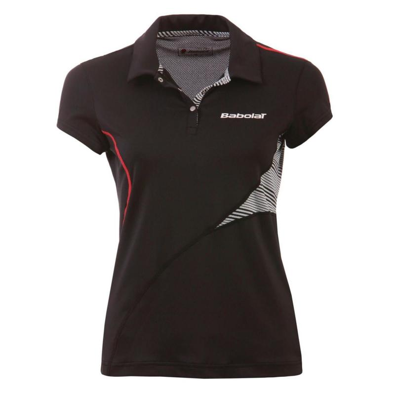 Polokošile Babolat Performance Tennis Polo Shirt Ladies Black