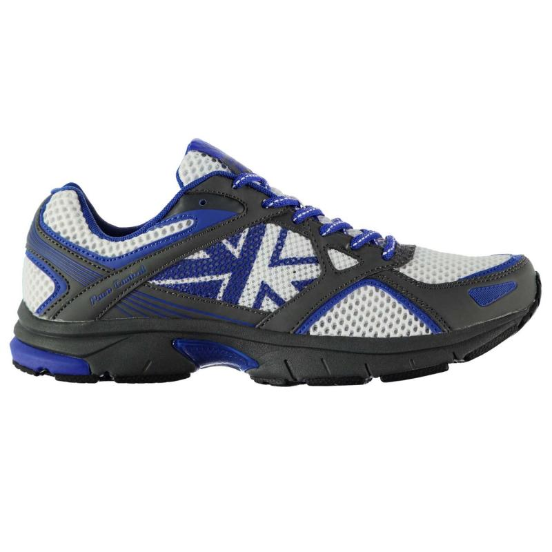 Boty Karrimor Pace Control Mens Running Shoes White/Grey/Blue