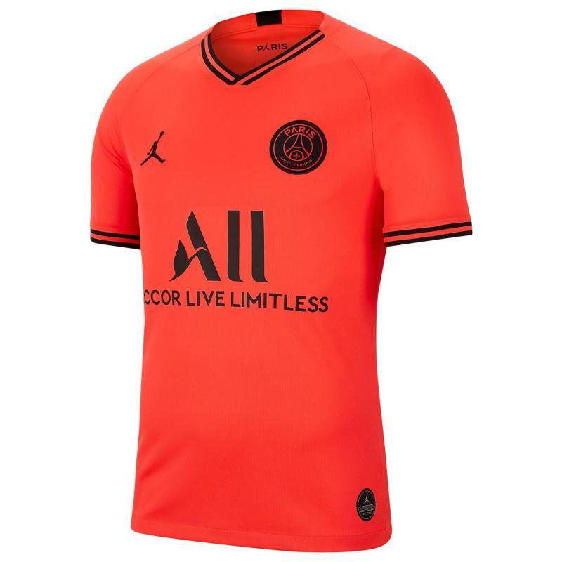 Air Jordan Paris Saint Germain x Jordan Kylian Mbappe Away Shirt 2019 2020 Red
