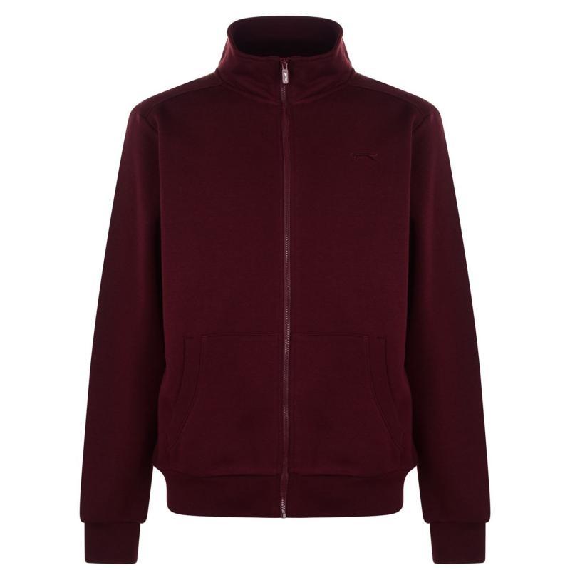 Mikina Slazenger Zipped Jacket Mens Wine
