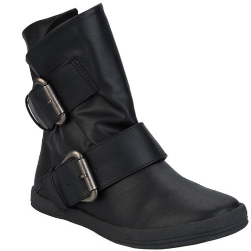 Blowfish Womens Coldem Double Buckle Boots Black