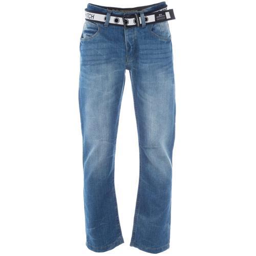 Crosshatch Mens Baltimore Light Wash Jeans Denim