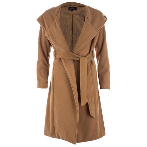 Bunda Brave Soul Womens Wrap Coat Camel