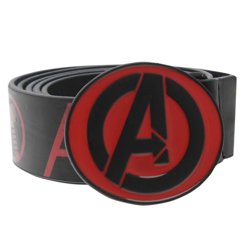 Marvel Avengers Belt Mens Black/Red