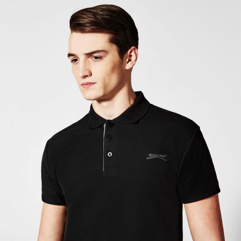 Slazenger Plain Polo Shirt Mens Red