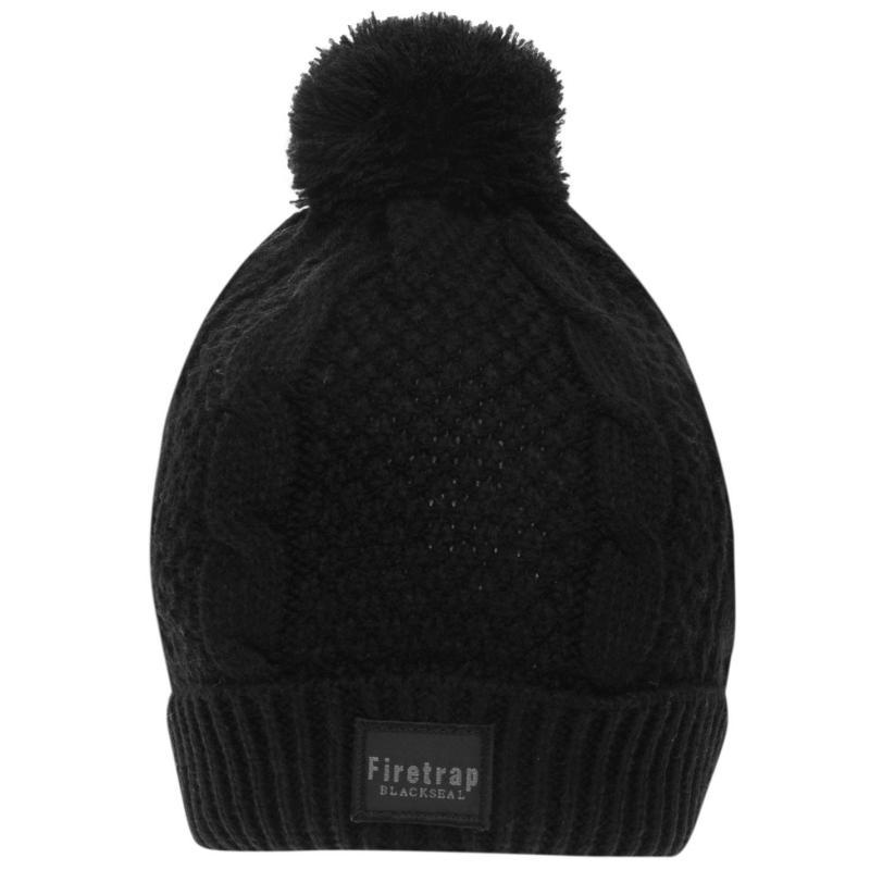 Firetrap Cable Hat Black