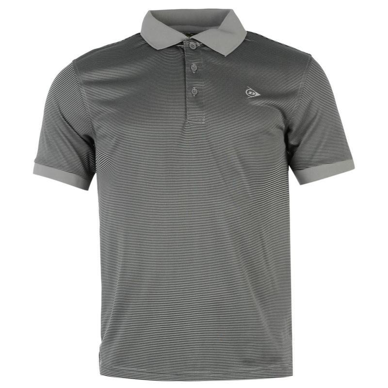 Dunlop Fine Stripe Polo Shirt Mens White