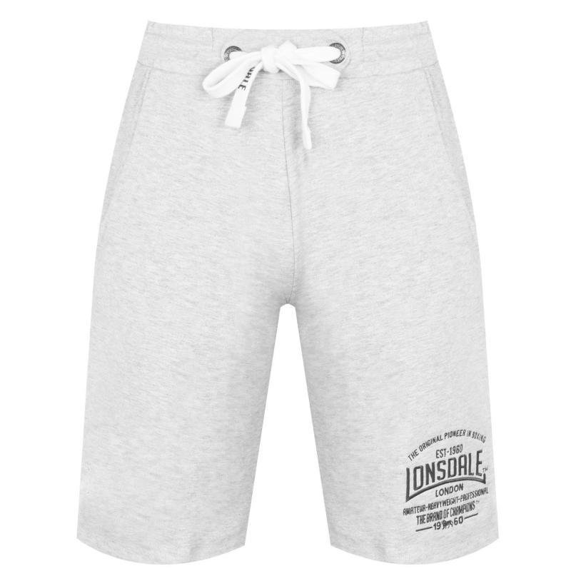 Lonsdale Box Lightweight Shorts Mens Grey Marl