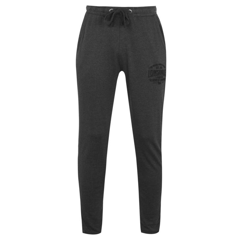Tepláky Lonsdale Box Lightweight Sweat Pants Mens Charcoal M