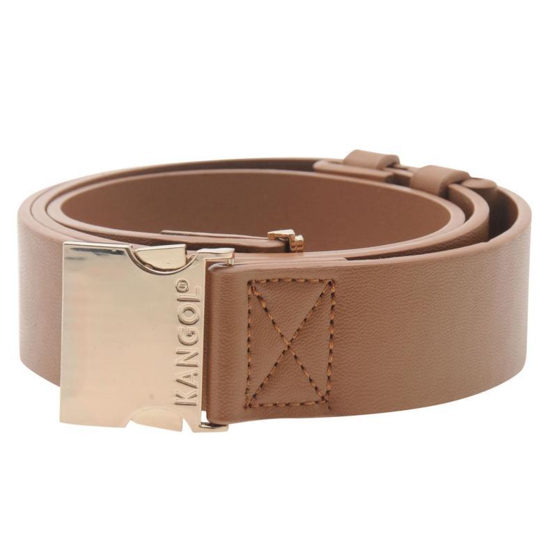 Kangol Metal Clasp Belt Ladies Tan