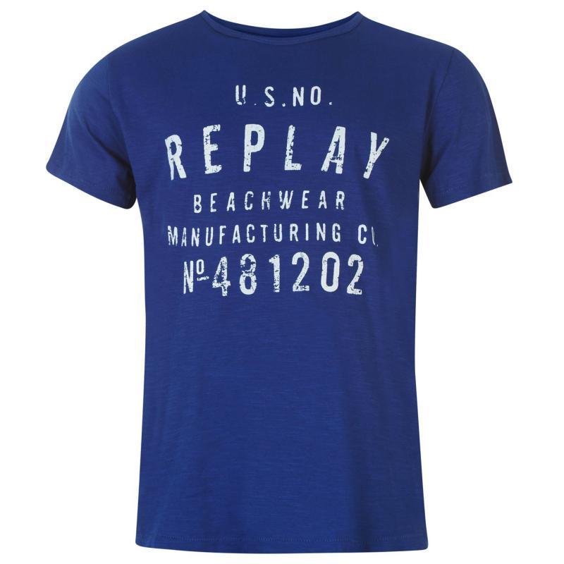 Tričko Replay Beachwear T Shirt Mens Offshore