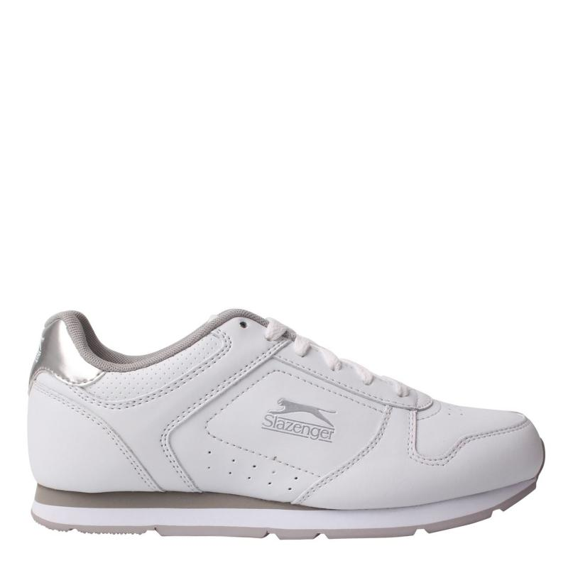 Slazenger Classic Ladies Trainers White/Silver