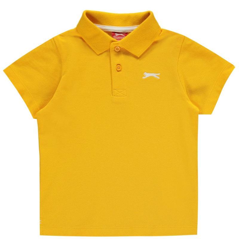 Slazenger Plain Polo Shirt Infant Boys Orange