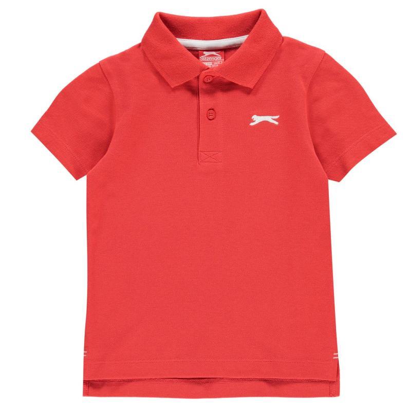 Slazenger Plain Polo Shirt Infant Boys Red