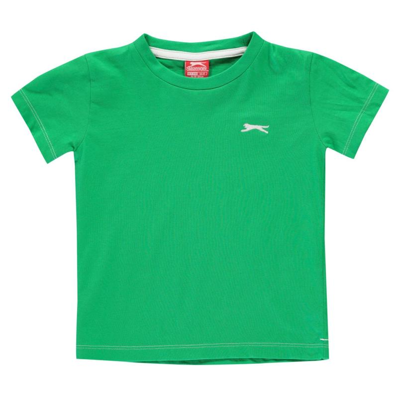 Tričko Slazenger Plain T Shirt Infant Boys Green