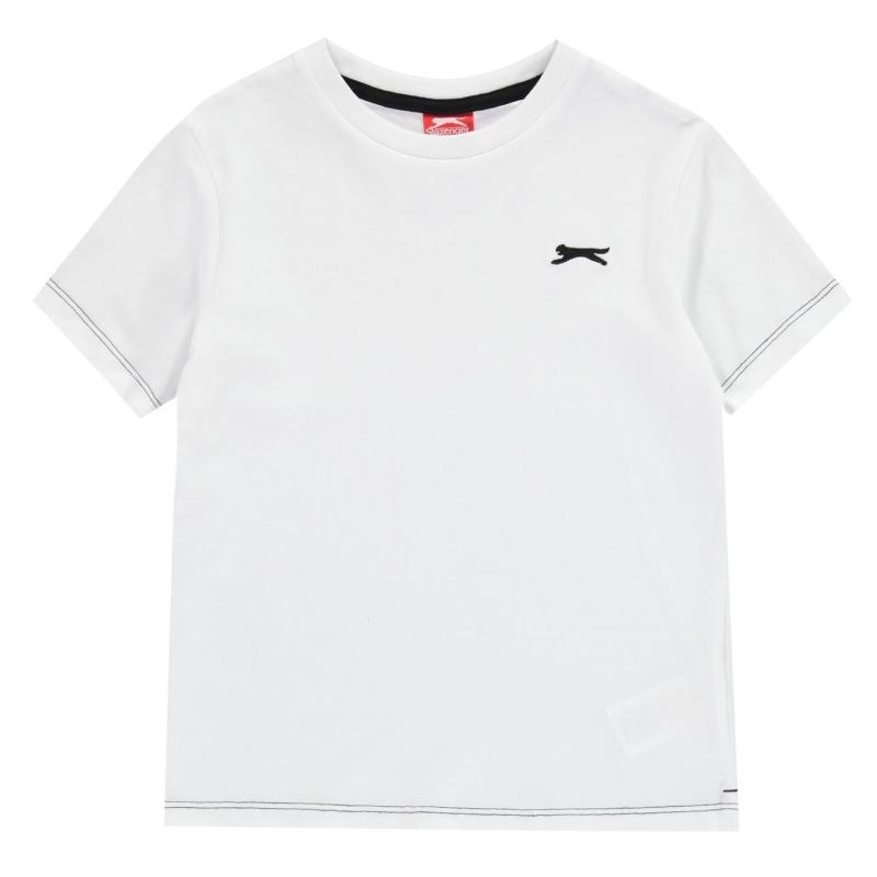 Tričko Slazenger Plain T Shirt Infant Boys White