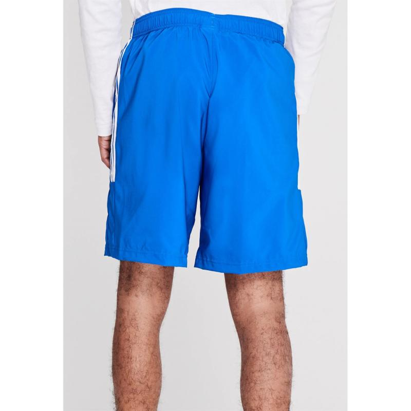 Adidas Mens Sports 3-Stripes Shorts Brightroyal/Wht
