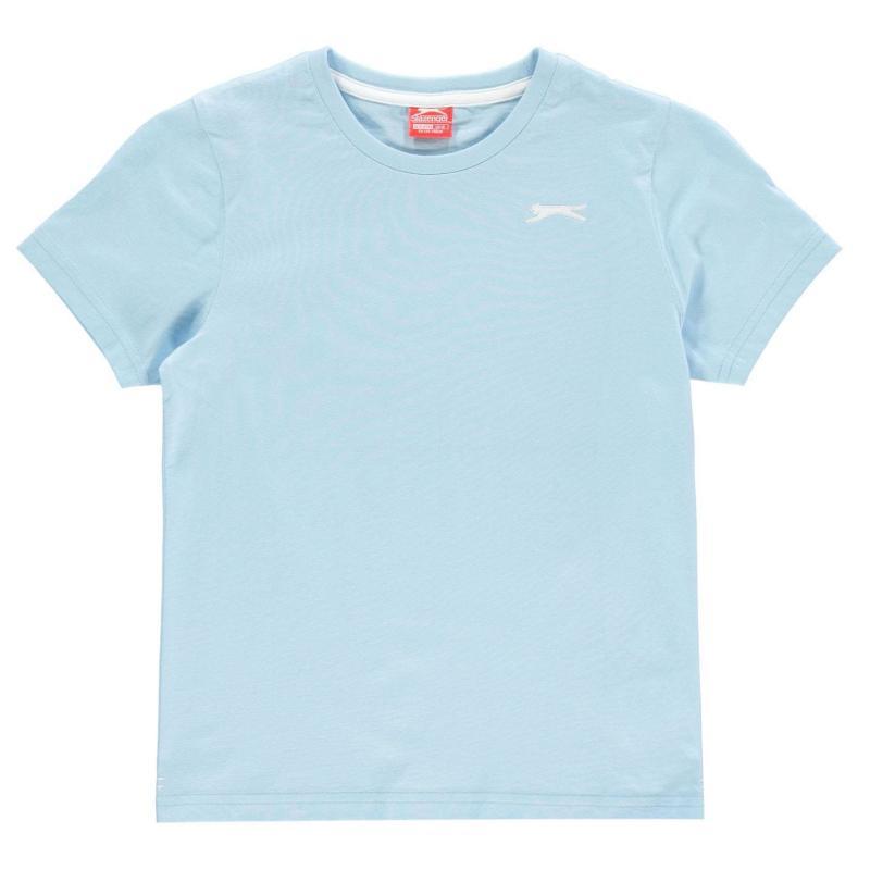 Tričko Slazenger Plain T Shirt Junior Boys Pastel Blue