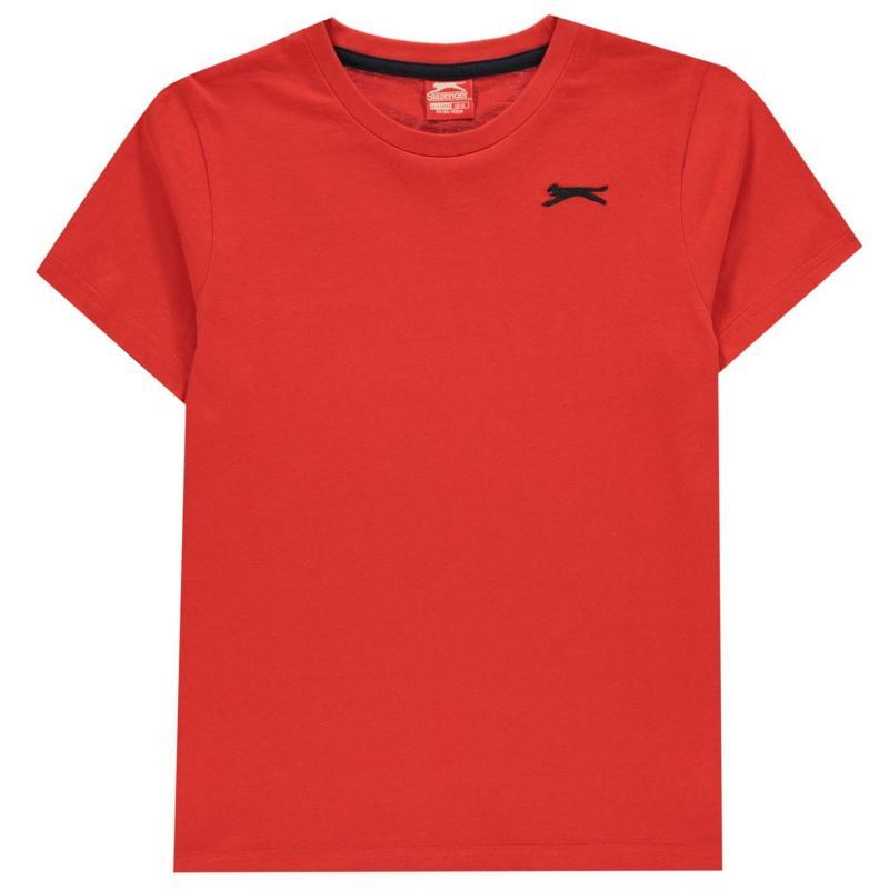 Tričko Slazenger Plain T Shirt Junior Boys Red