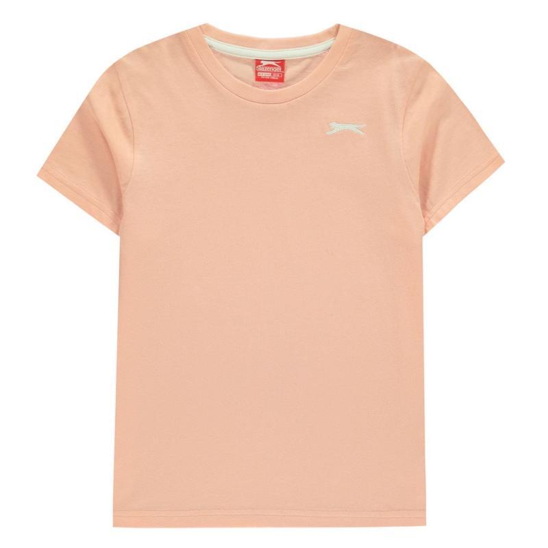 Tričko Slazenger Plain T Shirt Junior Boys Pink