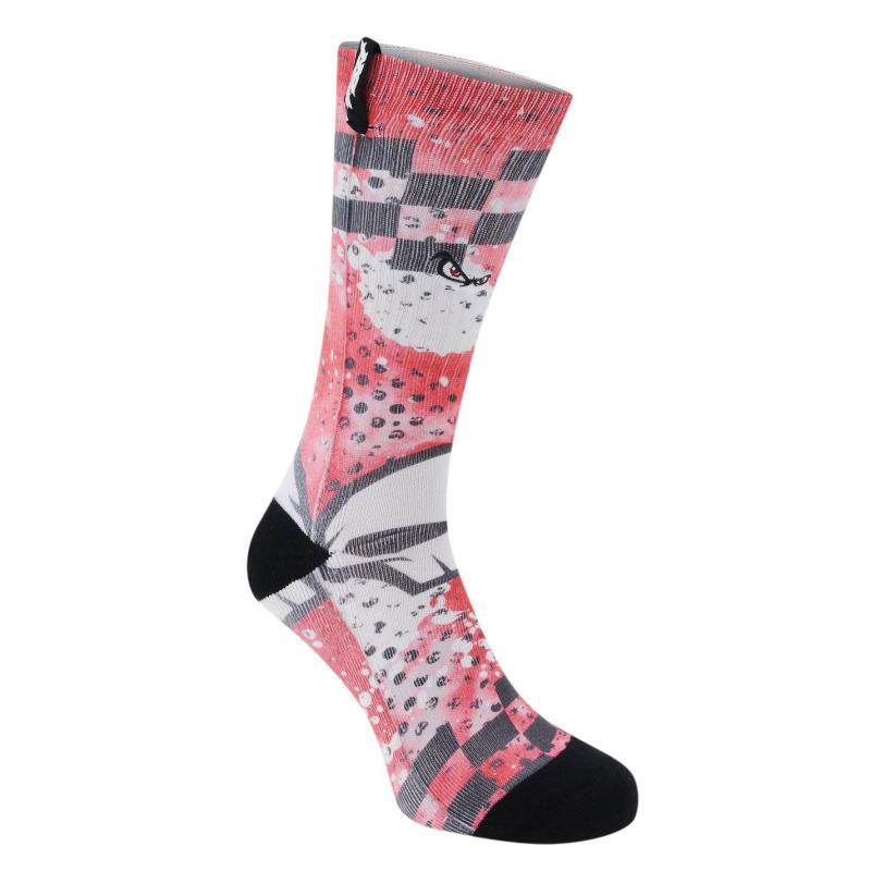 Ponožky No Fear 1 Pack Alabama Socks Junior Boys Red/Black