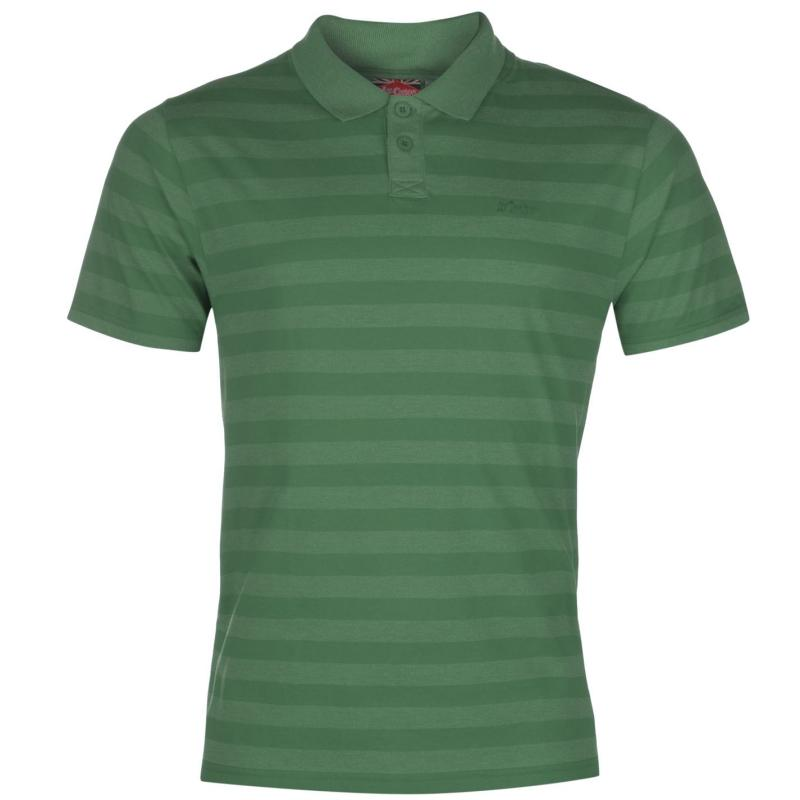 Lee Cooper Yarn Dye Polo Mens Vintage Green