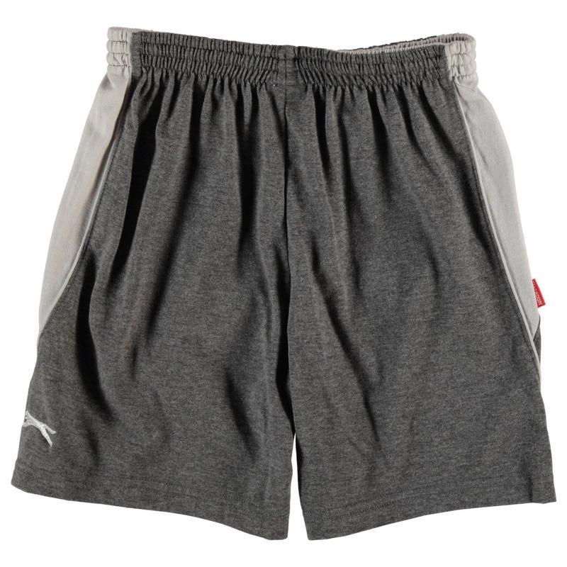 Kraťasy Slazenger Jersey Shorts Junior Charcoal Marl