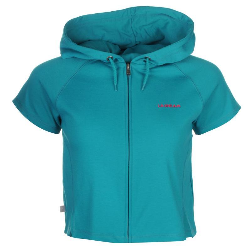 Mikina LA Gear Interlock Cap Sleeve Zip Top Womens Teal