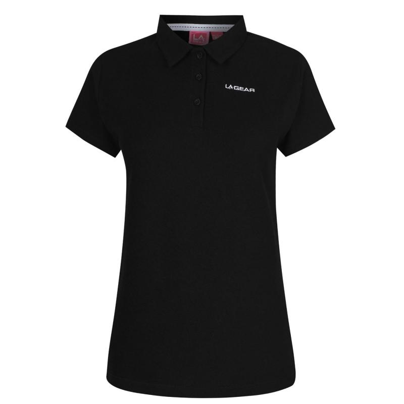 Polokošile LA Gear Pique Polo Shirt Ladies Black