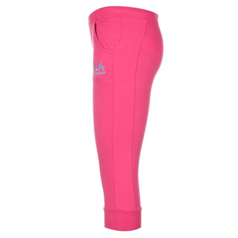 LA Gear Three Quarter Jogging Pants Junior Girls Pink