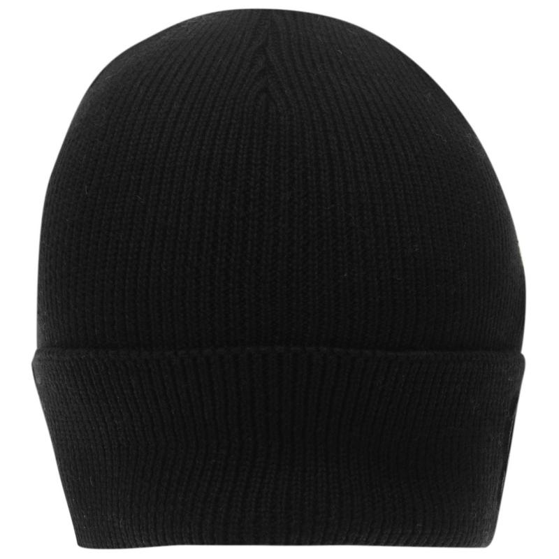 Fabric Logo Beanie Hat Mens Black