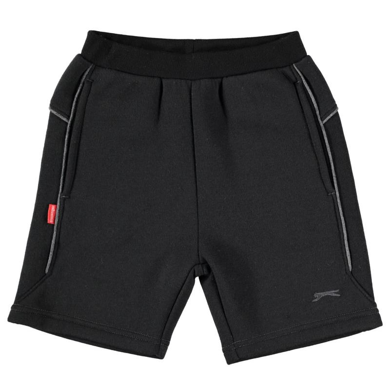 Kraťasy Slazenger Fleece Shorts Infant Boys Black