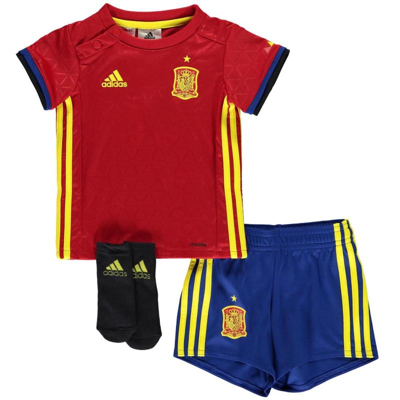 Adidas Spain Home Kit 2016 Baby Scarlet/Yellow