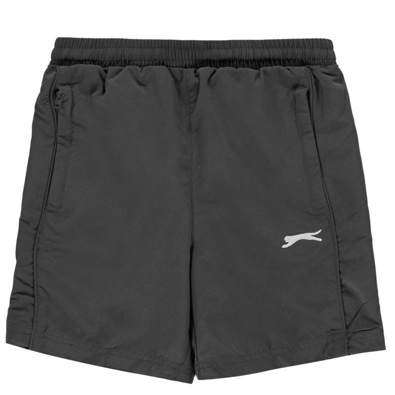 Kraťasy Slazenger Woven Shorts Junior Boys Charcoal