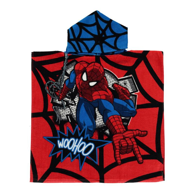 Character Towel Poncho Infant Spiderman