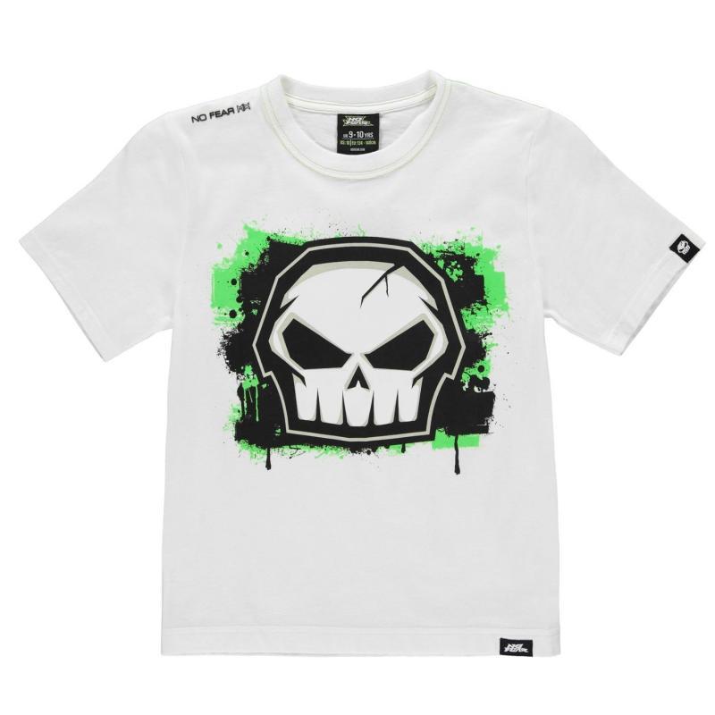 Tričko No Fear Core Graphic T Shirt Junior Boys White