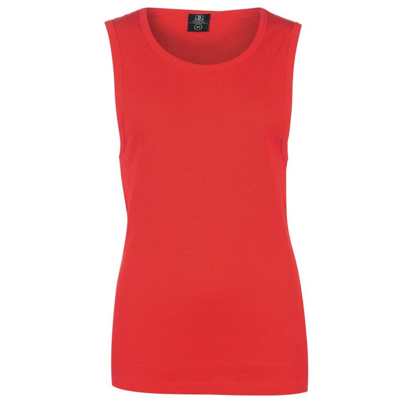 Tílko Giorgio Ribbed Vest Mens Bright Red