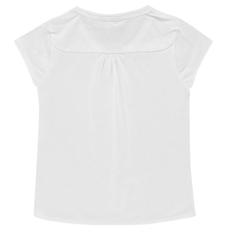 LA Gear V Neck T Shirt Junior Girls White