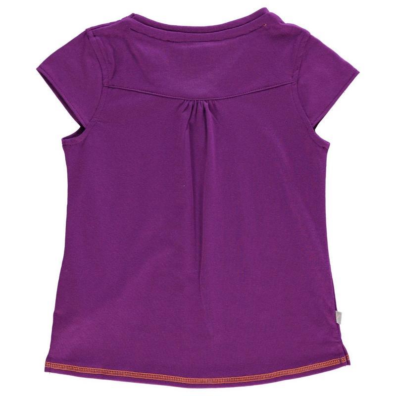 LA Gear V Neck T Shirt Junior Girls Purple