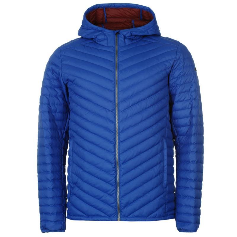 KJUS Blackcomb Hooded Down Jacket Mens Blue