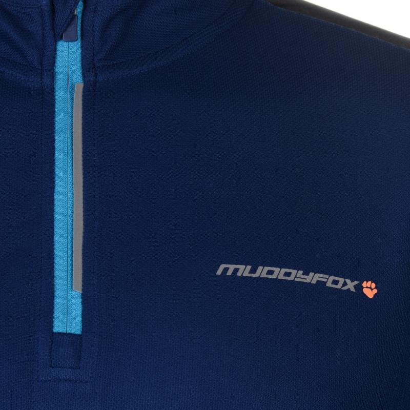 Tričko Muddyfox Cycling Long Sleeve Jersey Mens Green/Black