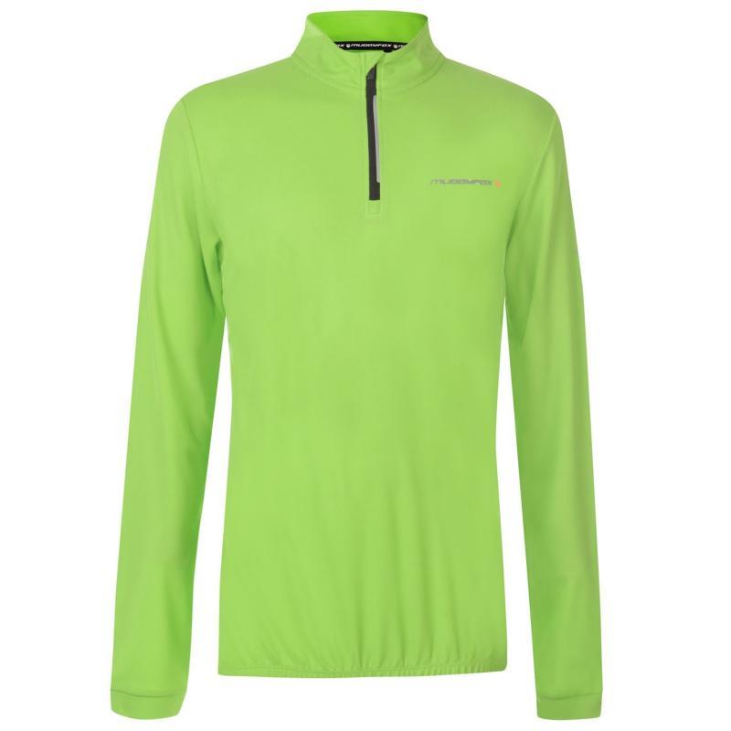 Muddyfox Cycling Long Sleeve Jersey Mens Green/Black