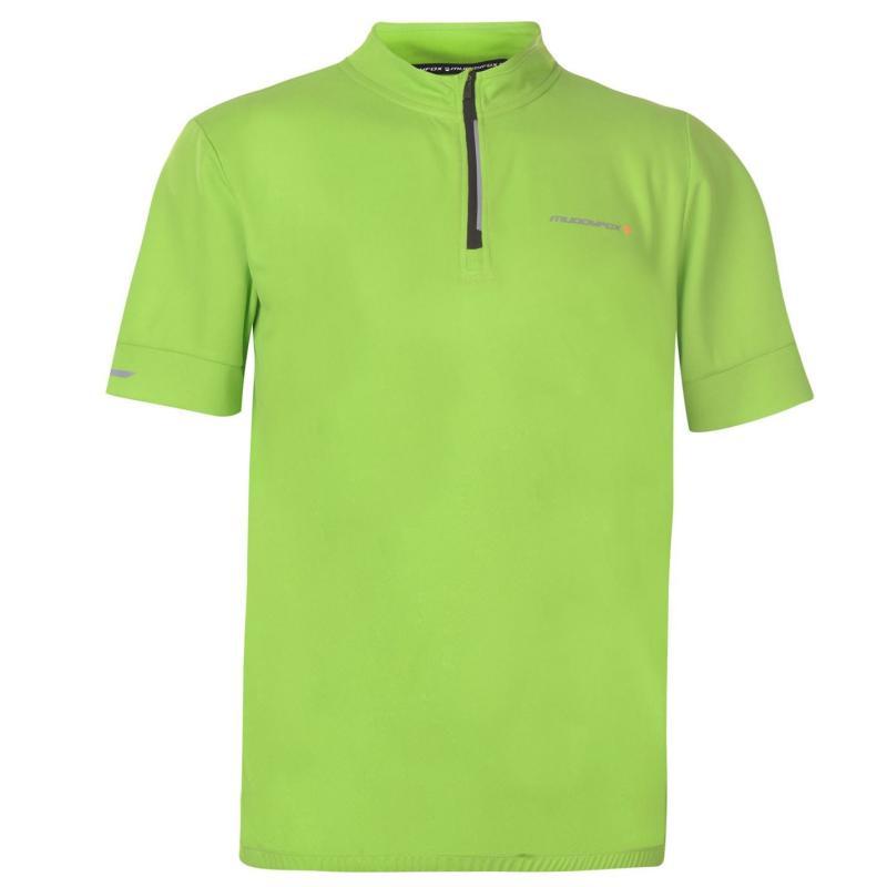 Tričko Muddyfox Cycling Short Sleeve Jersey Mens Green/Black