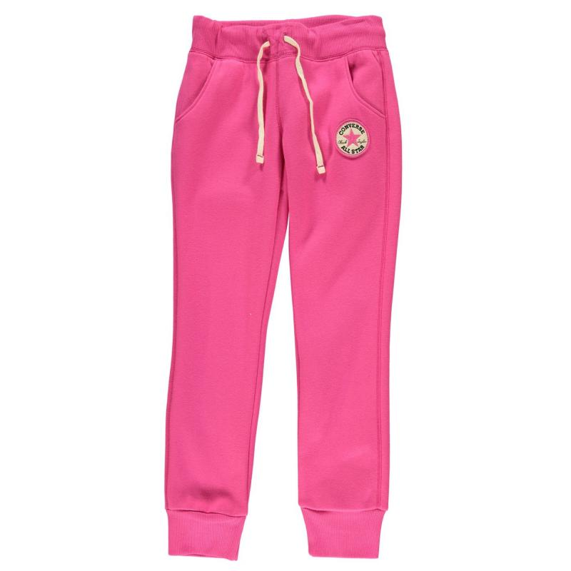 Tepláky Converse 76T Fleece Jogging Bottoms Junior Girls Pink